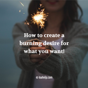 How to create a burning desire for what you want: the woman on the image holds fireworks in her hand. © loahelp.com