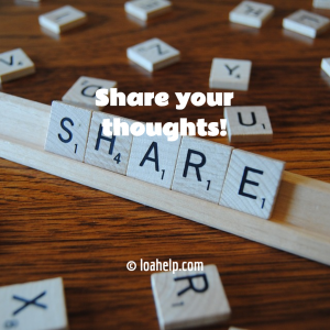 share your thoughts, scrabble game which says share