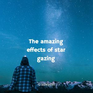 Star gazing, the effects are amazing!